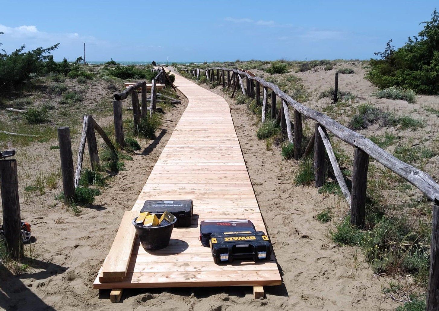 Spiagge del Parco: passerelle in restauro