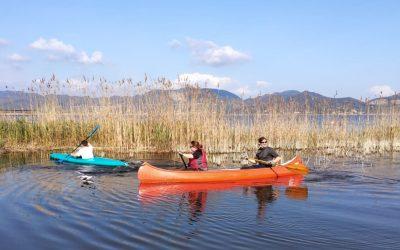 In canoa nel lago di Massaciuccoli